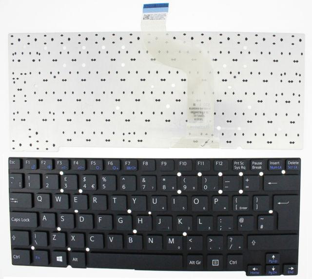 Bàn phím Laptop Sony SVT13 màu đen.