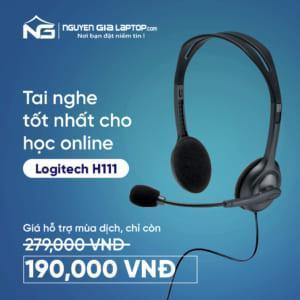 Giá sốc áp dụng cho tai nghe Logitech H111 – Trợ thủ đắc lực cho bé khi cần học online